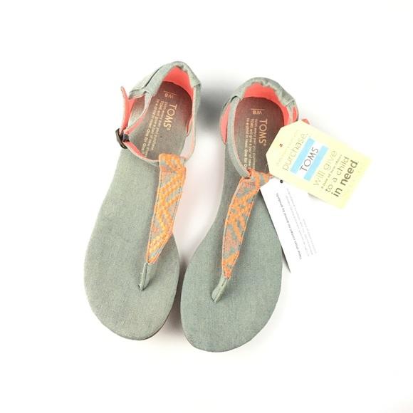 9a29fbac4f8b9 Toms Playa sandals in neon denim